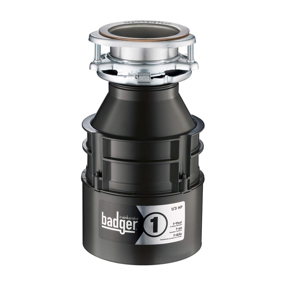 InSinkErator Badger 1, 1/3 HP Household Food Waste Disposer
