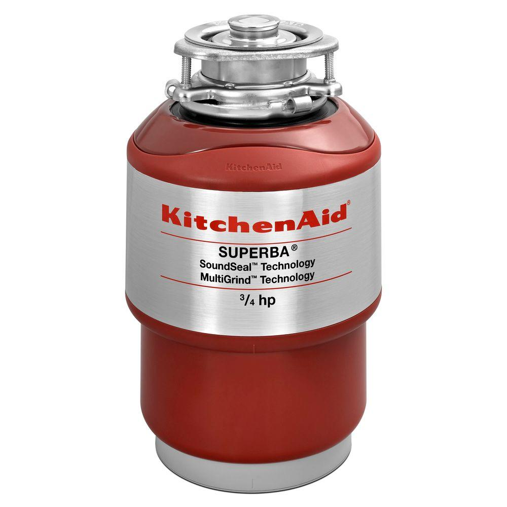 KitchenAid 3/4-HP Continuous Feed Noise Insulation Garbage Disposal
